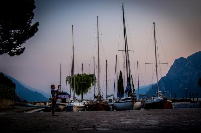 Beautiful Torbole, Lago di Garda, Italy.