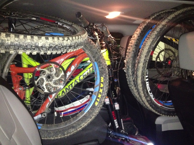 No rental car is too small for Colorado adventures - heading to Colorado Springs for some play time in Jon's backyard.