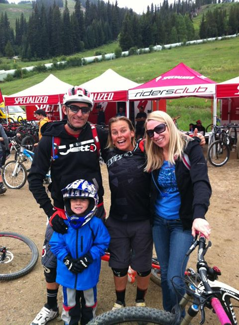 Stu, Linda & Ryder - great reunion with good old friends xxx