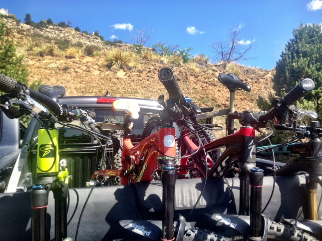 Bright bikes in the desert.