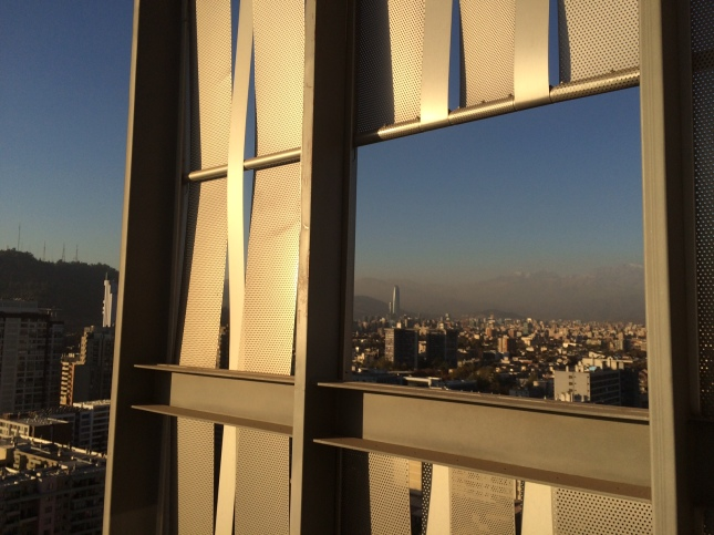 Hotel rooftop view in Santiago.