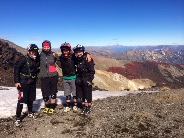 The top of the world, stage 6 with Tracy Moseley, Ines Thoma, Isabeau Cordurier & myself - where did Pauline go?