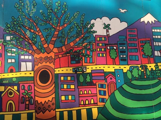 Street art in Santiago.