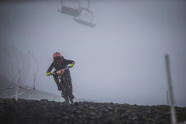 It was survival as we set off on stage 1 & 4 from the snowy, sleety, misty, freezing top of the mountain.