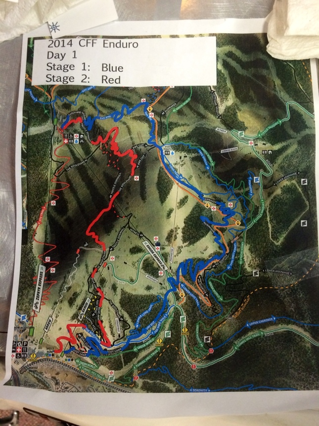 Some of the race tracks for Day 1.